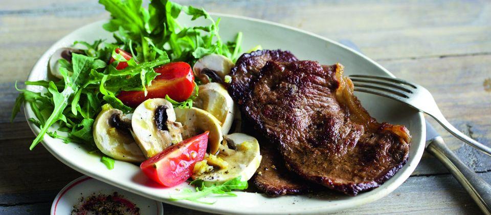 038 Tagliata auf Pilz-Salat 960