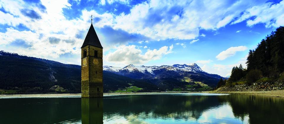 Lust auf Italien, Reisen, Südtirol, Reschensee