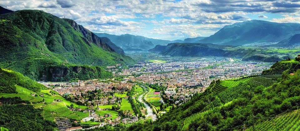 Die Südtiroler Landeshauptstadt Bozen