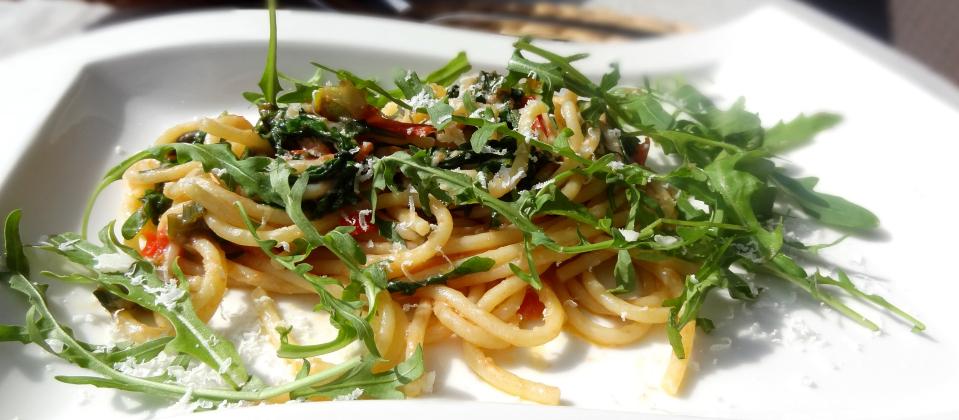 Spaghetti-Tomate-Rucola