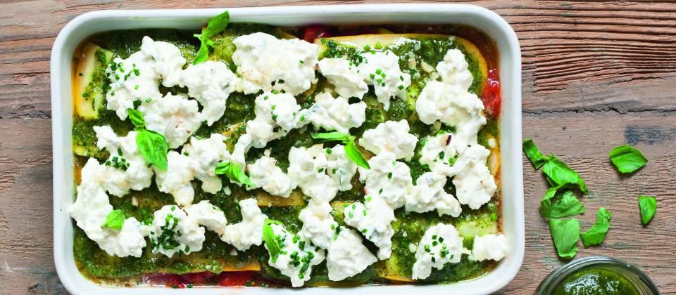Lasagne Rohkost Zucchini