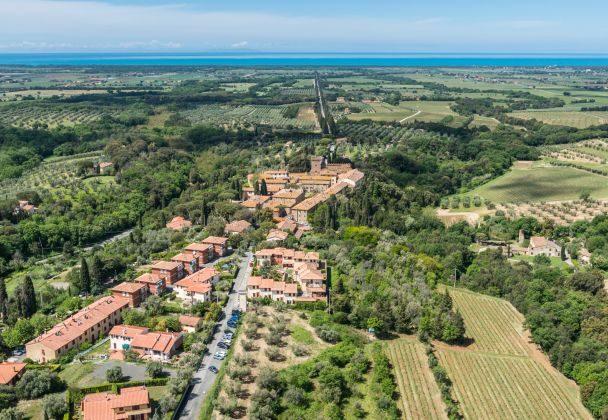 Bolgheri village and Viale dei Cipressi , Italy