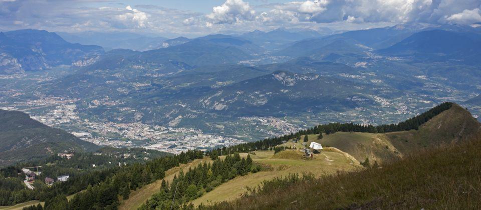 La valle di Trento vista dal Monte Bondone