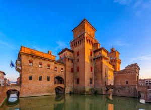 Fließtext 0 Die Altstadt von Ferrara Emilia Romagna