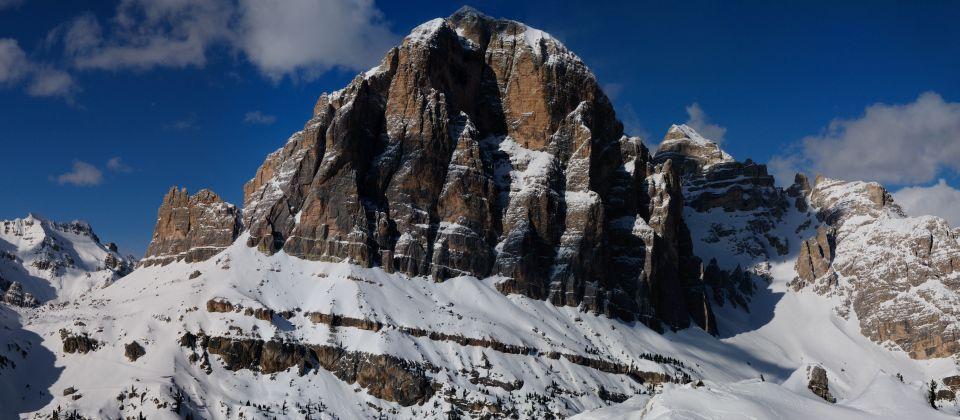Beitragsbild Schneeschuhwandern beim Tofanamassiv Belluno Venetien