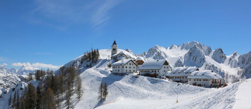 Beitragsbild Tarvisio Friaul Julisch Venetien Winter Ski