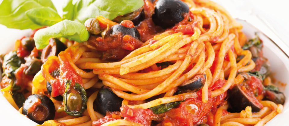 Spaghetti alla puttanesca Beitragsbild
