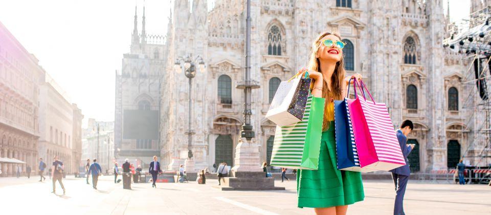 Shopping in Mailand Beitragsbild